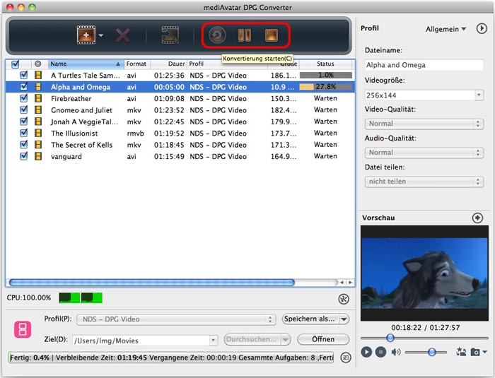 DVD to DPG Converter Mac